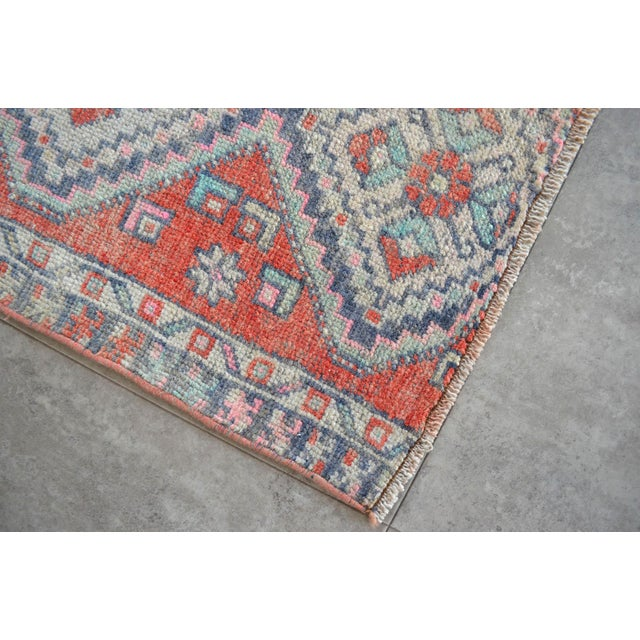 Hand Knotted Door Mat, Entryway Rug, Bath Mat, Kitchen Decor, Small Rug, Turkish Rug - 1′7″ × 2′7″ For Sale - Image 4 of 5