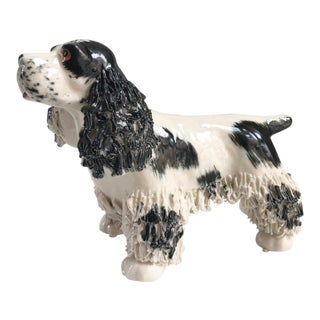 Midcentury Vintage English Setter Dog Italian Figurine Statue For Sale