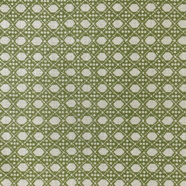 LuRu Home Wickerwork Fabric, 1 Yard in Lime For Sale