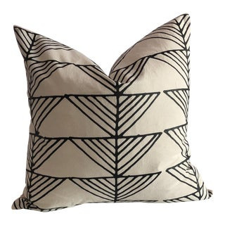 Boho Chic Arrows Organic Cotton Pillow For Sale