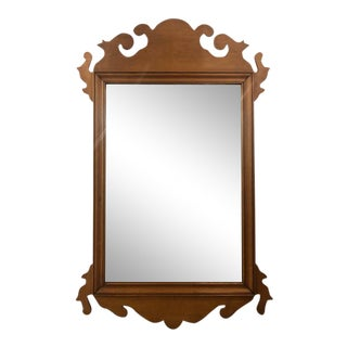 Vintage Chippendale Style Wall Mirror For Sale