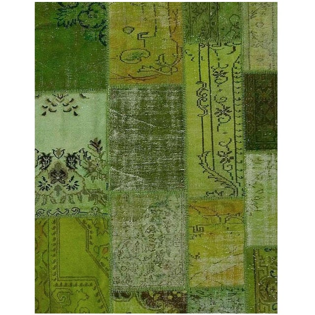 Turkish circa 1950's. This is a fine example of an overdyed patchwork area rug. These rugs demonstrate a process best...