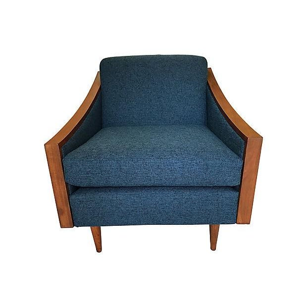 Blue Mid-Century Lounge Chair - Image 2 of 8