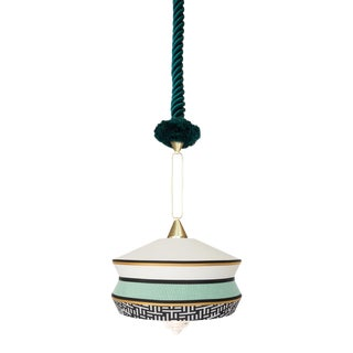 Contardi Calypso Antigua Pendant Light in Moss Green and Mint For Sale