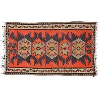 "Vintage Persian Shiraz Tribal Kilim Rug With Boho Chic Style - 5' 2"" X 8' 7"""