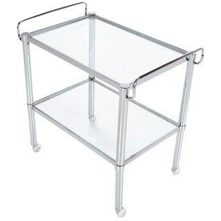 Modern Chrome Bar Cart
