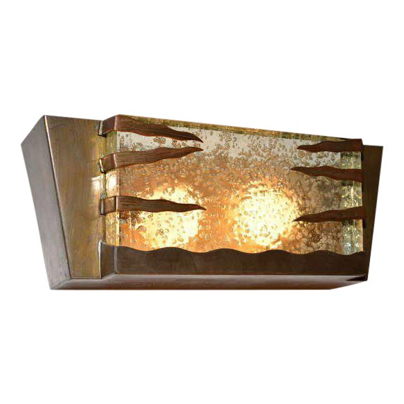 Mid Century Modern Italian Brass Frame Wall Sconce For Sale