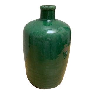 Rustic Farmhouse Crackle Green Vase Jug For Sale