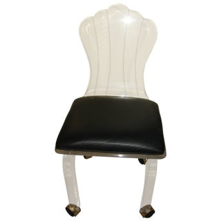 Mid Century Modern Shell Back Lucite Chair