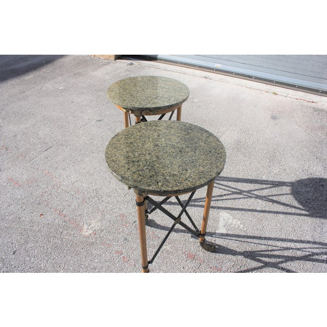 1920s French Neoclassical Bronze Side Tables - a Pair For Sale - Image 9 of 13