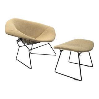 Bertoia Diamond Chair and Ottoman