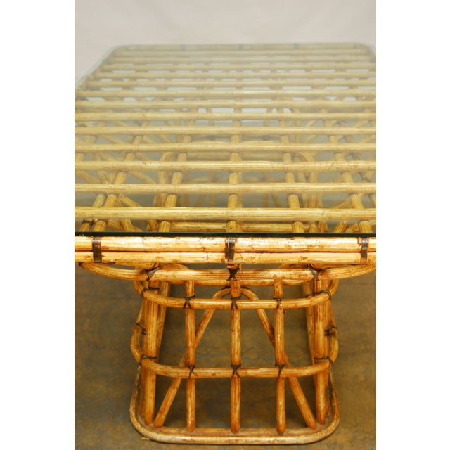 Mid-Century Architectural Bamboo Dining Table For Sale - Image 9 of 10