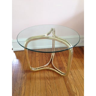 Brass and Glass Geometric Coffee Table Preview
