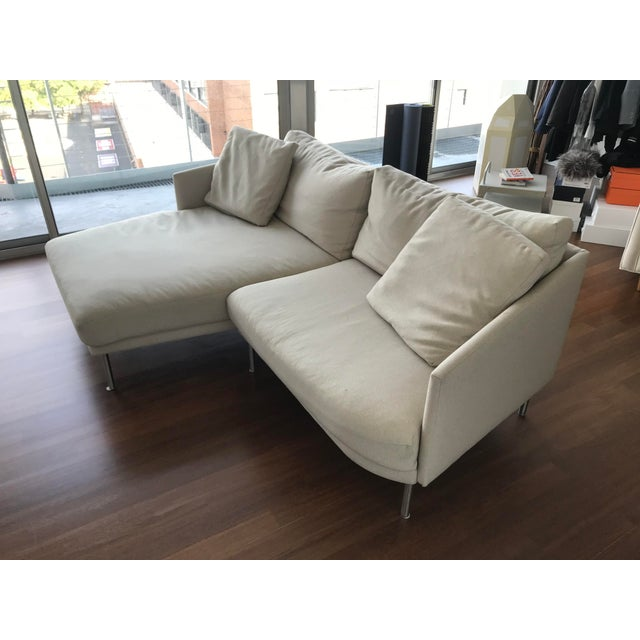 Modern Design Within Reach Camber Compact Sectional Sofa For Sale In New York - Image 6 of 12