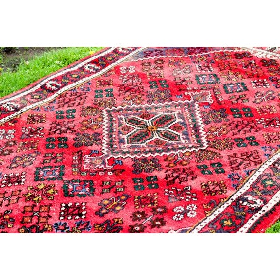 """Persian Bohemian Hand Knotted Rug - 4'3"""" x 6'9"""" - Image 3 of 6"""