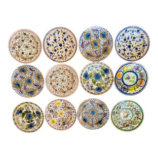 Handmade Spanish Plates, S/12 For Sale