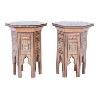Pair of Syrian Inlaid Stands For Sale