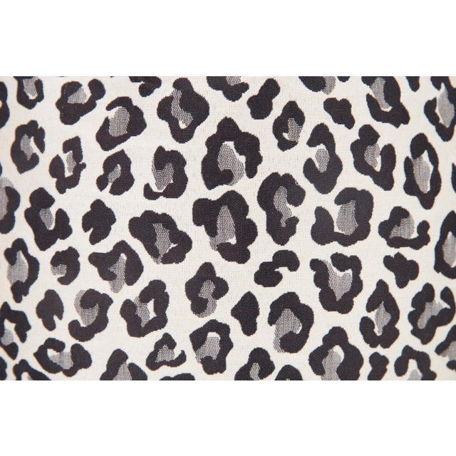 Black & Grey Leopard Pillows - A Pair For Sale - Image 4 of 4