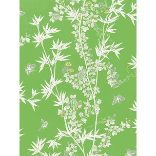 Scalamandre Jardin De Chine, Jade Fabric Preview