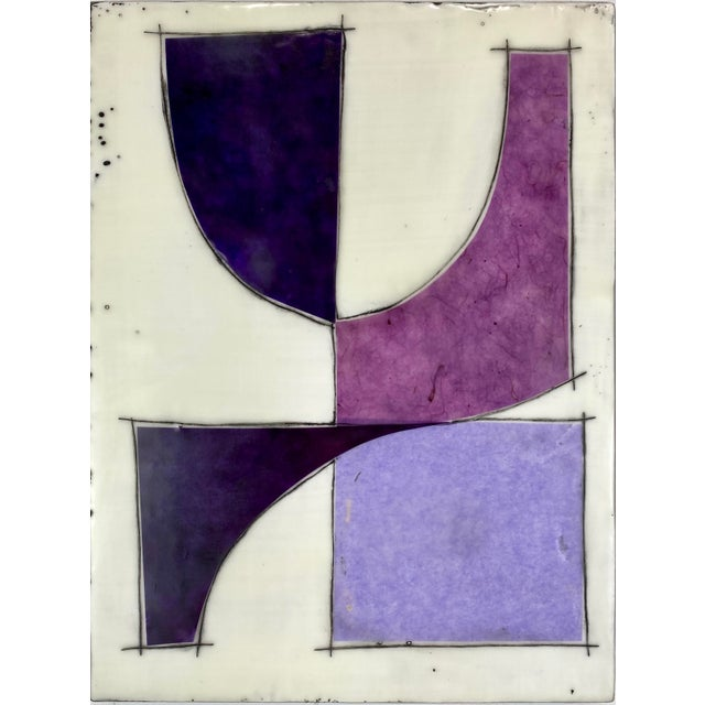 """""""Eat the Cake"""" by Gina Cochran Encaustic Collage Installation - 9 Panels For Sale - Image 10 of 13"""