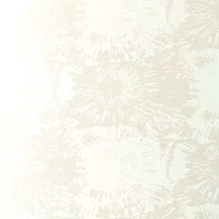 Sample - Schumacher Fireworks Wallpaper in White Opal For Sale