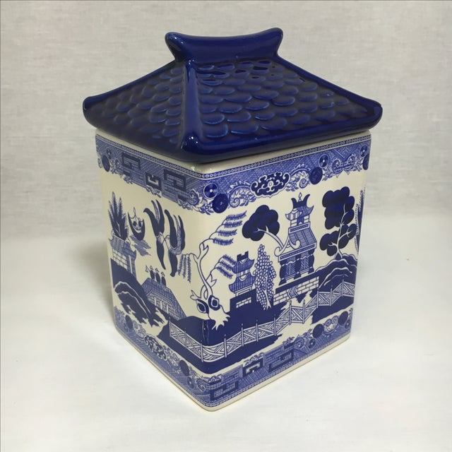 Blue Willow Ceramic Canisters - A Pair - Image 3 of 8