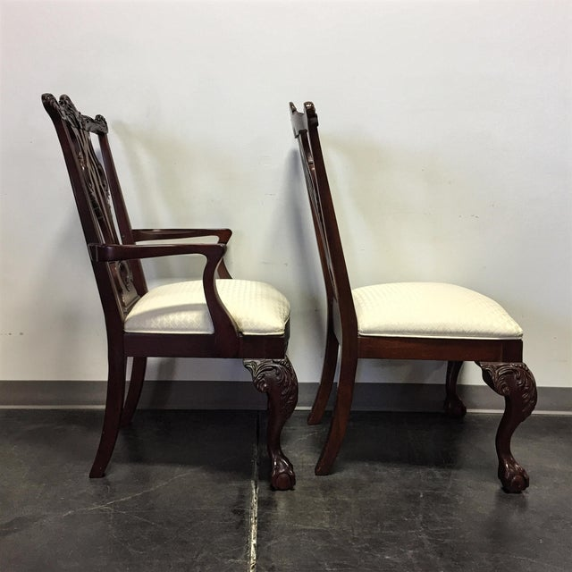 Thomasville Thomasville Mahogany Collection Chippendale Dining Chairs - Set of 8 For Sale - Image 4 of 11