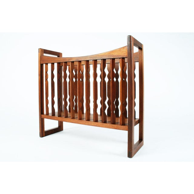 "Drexel Heritage Drexel Wooden ""Crib"" Magazine Stand For Sale - Image 4 of 6"