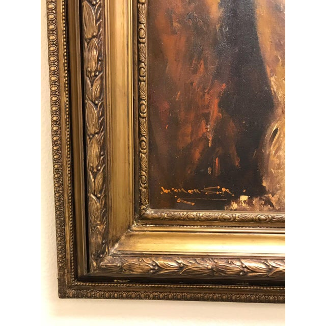 Canvas French Style Oil Painting For Sale - Image 7 of 11