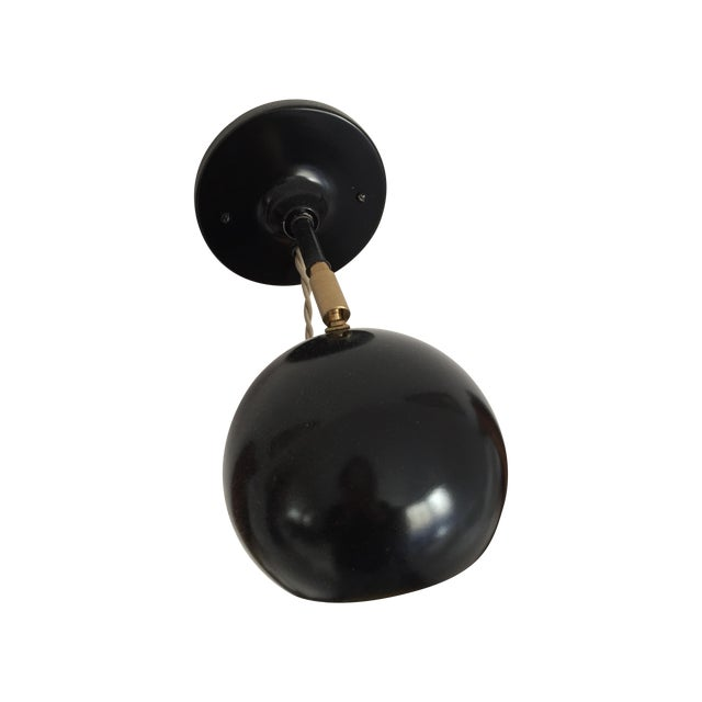 Black Vintage Inspired Plug in Sconce - Image 1 of 3