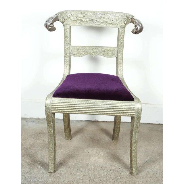 Silver Anglo Raj Wedding Side Chair For Sale - Image 8 of 8
