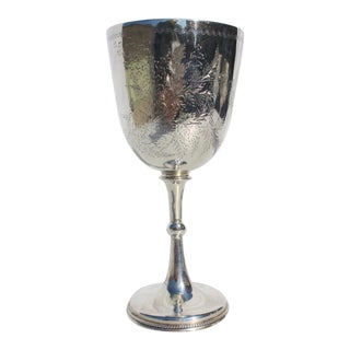 Sterling Silver Goblet Dated 1891 For Sale