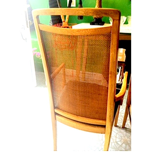 Mid-Century Wood & Cane Armchairs - a Pair - Image 3 of 5