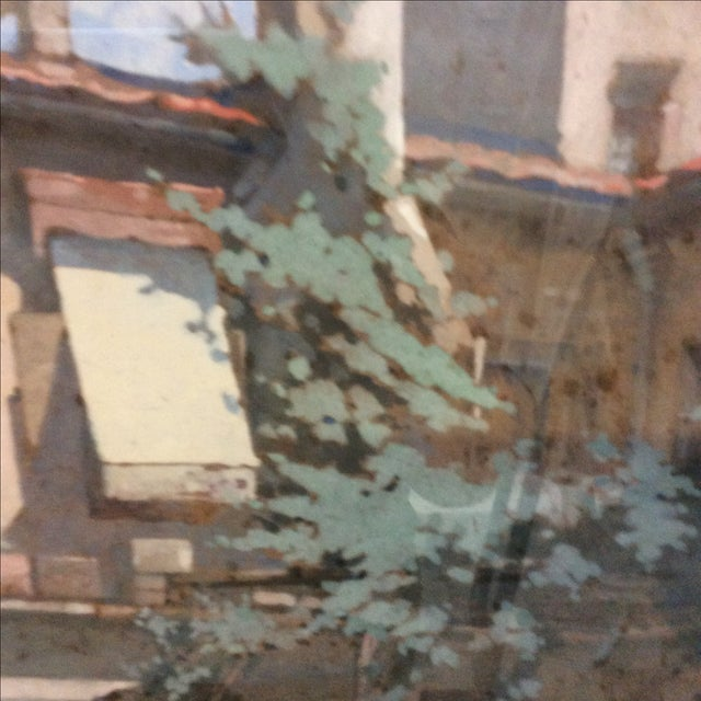 """""""Courtyard in Florence"""" by George Scott Ingles - Image 4 of 8"""