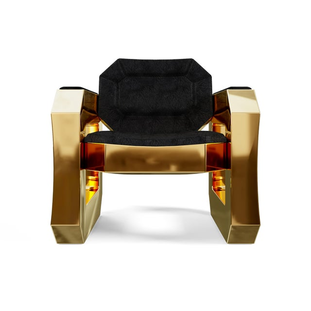 Art Deco Facet Lounge Chair by Artist Troy Smith - Contemporary Design - Handmade Furniture For Sale - Image 3 of 8