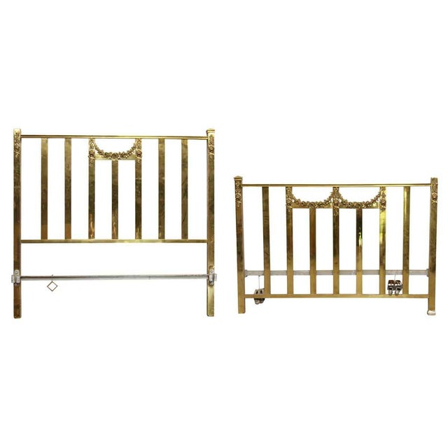 Vintage Mid-Century Full Size Brass Bedframe For Sale - Image 10 of 10