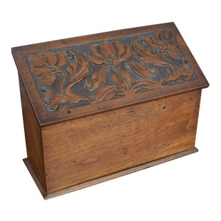 Early 20th Century Arts and Crafts Walnut Letter Box