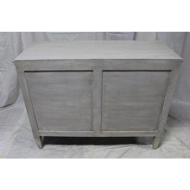 Mid-Century Modern 20th Century Gustavian Gray Oak Chest of Drawers For Sale - Image 3 of 7