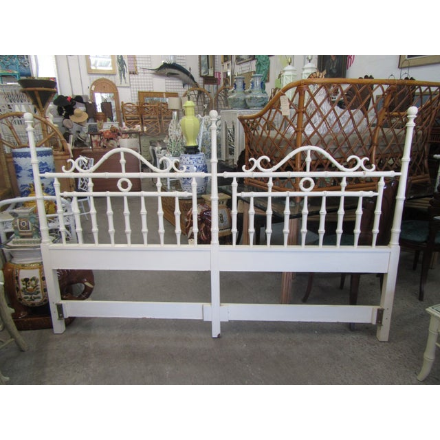 1970s Faux Bamboo King Size Headboard For Sale In West Palm - Image 6 of 8