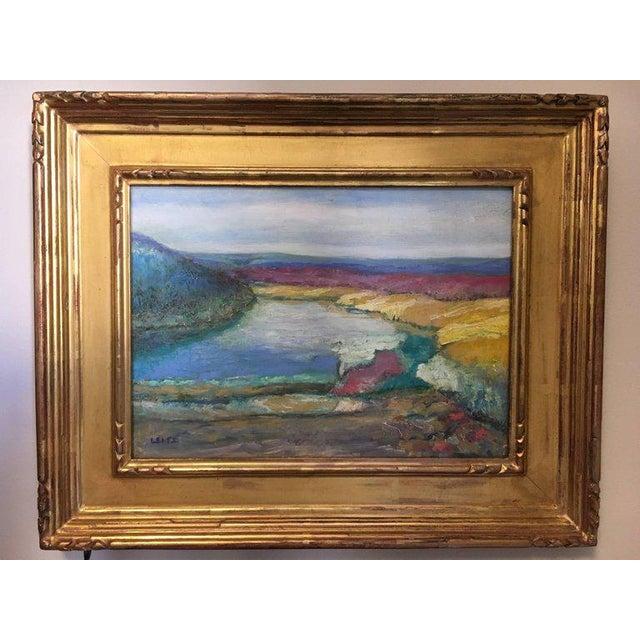 Jeffrey Leitz Original Signed Painting Connecticut Landscape Abtract For Sale - Image 9 of 10