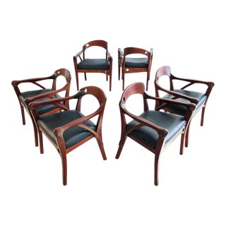 Studio Craft Chairs in Exotic Woods - Set of 6 For Sale
