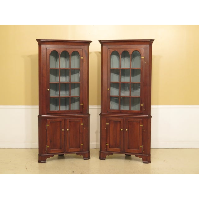 1970s Chippendale Walnut Corner Cabinets - a Pair For Sale - Image 13 of 13