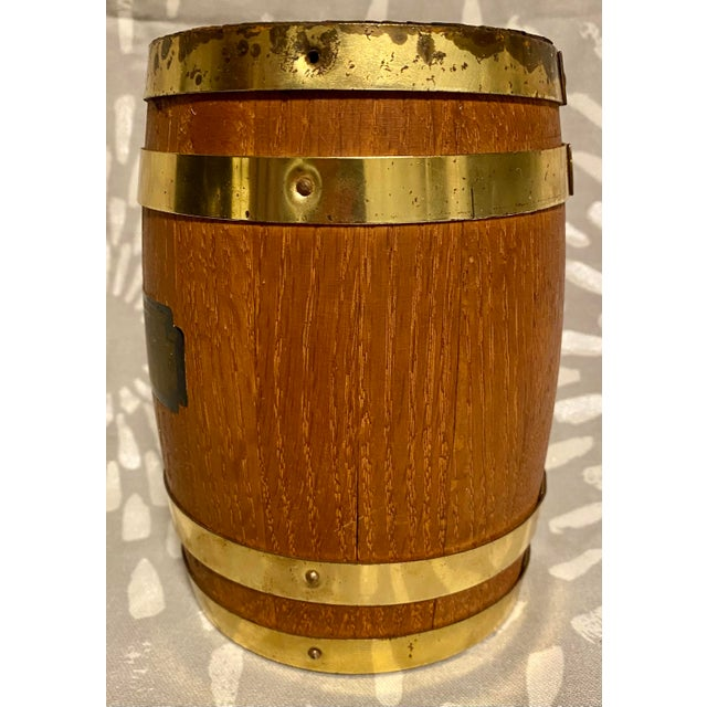 "1940s Vintage St. Louis County National Bank Clayton ""Thoughtful Banking"" Coin Barrel For Sale - Image 4 of 9"