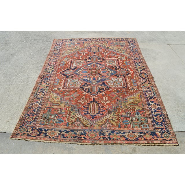 "Antique Persian Heriz Rug - 7'7"" X 10'11"" - Image 2 of 8"