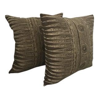 Kravet Block Print Pillows - a Pair