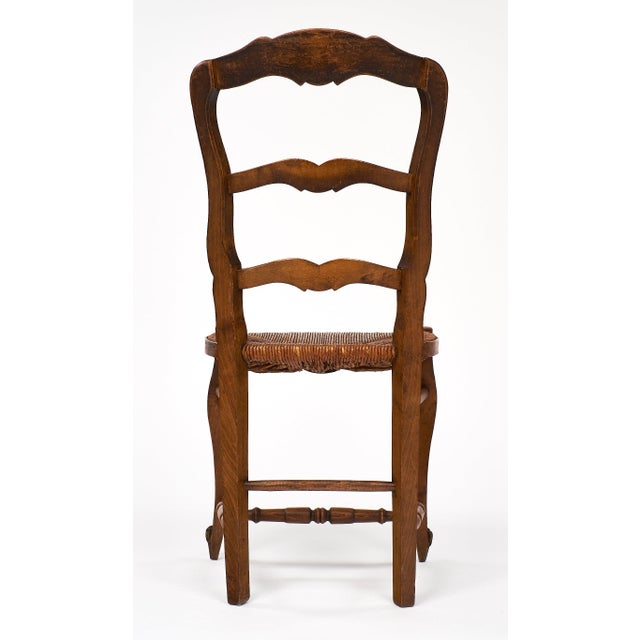 French Antique Wicker and Wood Dining Chairs - Image 8 of 10 - Exceptional French Antique Wicker And Wood Dining Chairs DECASO