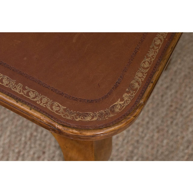 Wood French Louis XV Style Writing Table For Sale - Image 7 of 11