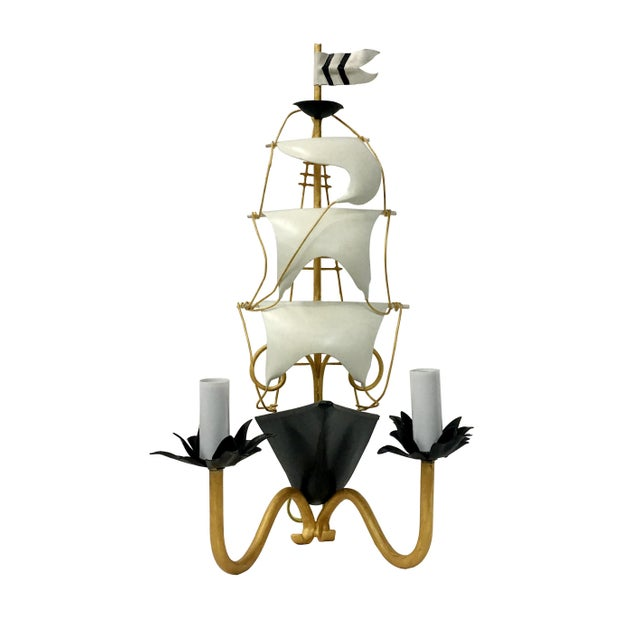White Vintage Nautical Ship Wall Sconce Lighting For Sale - Image 8 of 8
