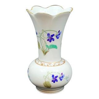 Vintage Haviland Limoge Floral Vase For Sale