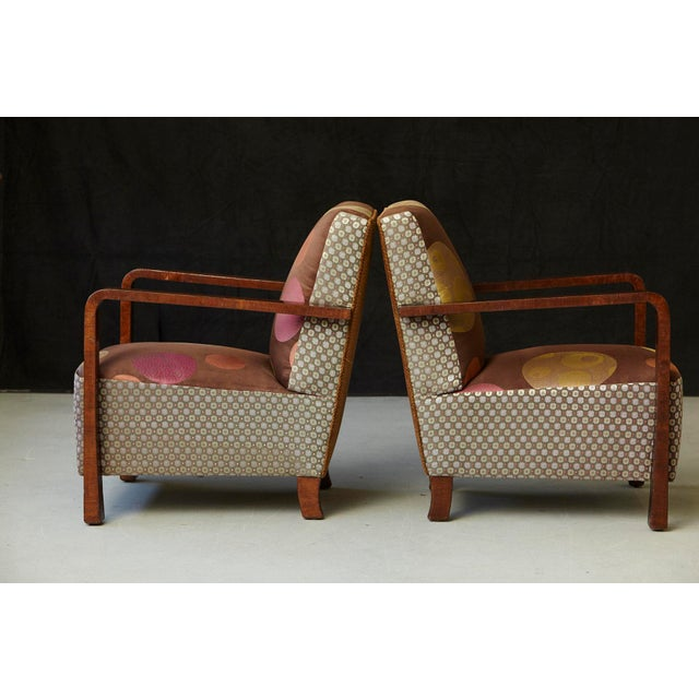 Pair of 1920s Art Deco Lounge Chairs from Buenos Aires For Sale In New York - Image 6 of 11